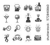 drunken icon | Shutterstock .eps vector #572840860