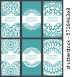 set of cards and invitation...   Shutterstock .eps vector #572846368