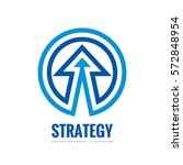 business strategy   vector logo ... | Shutterstock .eps vector #572848954