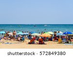 peniscola  spain   july 27 ... | Shutterstock . vector #572849380