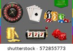 casino icon isolated on... | Shutterstock .eps vector #572855773