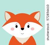 cartoon animal  cute fox on...   Shutterstock .eps vector #572856610