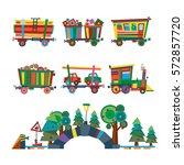 railway train station vector | Shutterstock .eps vector #572857720