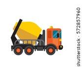concrete mixer truck cement... | Shutterstock .eps vector #572857960
