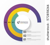 pie chart circle graph. modern... | Shutterstock .eps vector #572858266