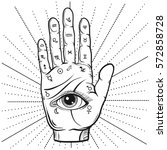 Fortune Teller Hand With...