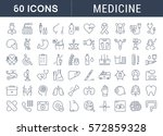 set vector line icons  sign in... | Shutterstock .eps vector #572859328