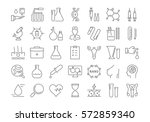 set vector line icons  sign and ... | Shutterstock .eps vector #572859340