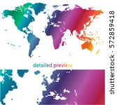 colorful dotted world map ...   Shutterstock .eps vector #572859418