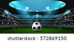 soccer football stadium... | Shutterstock .eps vector #572869150