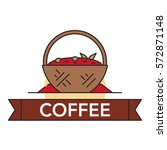 vector illustration of a cocoa... | Shutterstock .eps vector #572871148