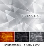 triangle abstract background ... | Shutterstock .eps vector #572871190