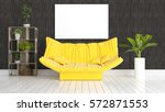 modern bright interior with... | Shutterstock . vector #572871553
