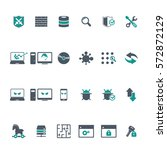cyber security icon set  | Shutterstock .eps vector #572872129