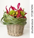bouquet of flowers and berries... | Shutterstock . vector #57287494