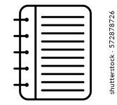 vector illustration of note... | Shutterstock .eps vector #572878726