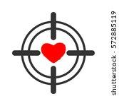 heart sight. aim and love.... | Shutterstock .eps vector #572885119