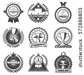 monochrome sport award labels... | Shutterstock .eps vector #572888803