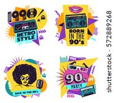 colorful labels set with... | Shutterstock .eps vector #572889268