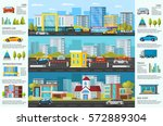 urban auto traffic brochure... | Shutterstock .eps vector #572889304