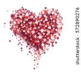 beautiful floral heart.... | Shutterstock .eps vector #572890276