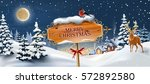 vector background with winter... | Shutterstock .eps vector #572892580
