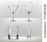 set of glasses for alcohol in a ... | Shutterstock .eps vector #572892628