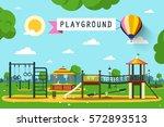 children's playground on city... | Shutterstock .eps vector #572893513
