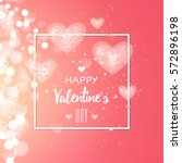 happy valentines day and... | Shutterstock .eps vector #572896198