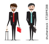 men in business suits.... | Shutterstock .eps vector #572899288