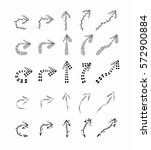 vector hand drawn arrows set on ... | Shutterstock .eps vector #572900884