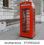 traditional red telephone box... | Shutterstock . vector #572901610