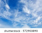 beautiful clouds in blue sky  | Shutterstock . vector #572903890