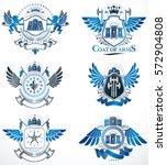 vector classy heraldic coat of... | Shutterstock .eps vector #572904808
