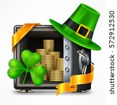 st. patrick s day symbols  hat  ... | Shutterstock .eps vector #572912530