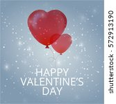 valentines day flyer. vector...   Shutterstock .eps vector #572913190