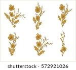 beautiful gold flowers for... | Shutterstock .eps vector #572921026