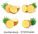 pineapple fruit isolated on... | Shutterstock . vector #572921644
