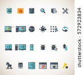 cyber security icon set  | Shutterstock .eps vector #572923834