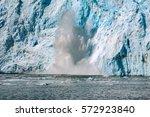 calving aialik glacier  kenai... | Shutterstock . vector #572923840