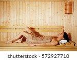 attractive young women enjoying ... | Shutterstock . vector #572927710
