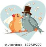 Lovebirds Vector Cartoon...