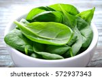 Fresh Baby Spinach Leaves In...