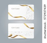 set of stylish white gift cards ... | Shutterstock .eps vector #572937439