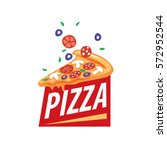 pizza vector logo | Shutterstock .eps vector #572952544