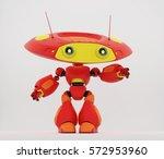 Cartoonish Robotic Ufo Toy In...