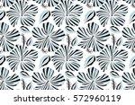 raster hibiscus flowers and... | Shutterstock . vector #572960119