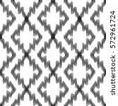 vector ikat seamless pattern.... | Shutterstock .eps vector #572961724