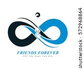 friends forever  everlasting... | Shutterstock .eps vector #572968864