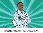 doctor therapist confident... | Shutterstock .eps vector #572969524